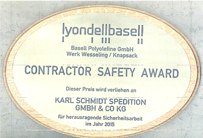2015 SAFETY AWARD